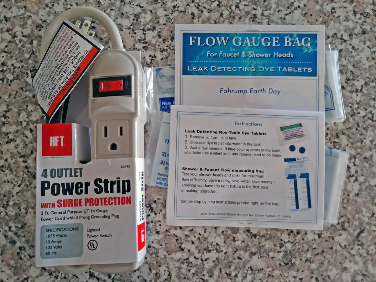 Special to the Pahrump Valley Times Pictured are a power strip and a kit detailing how to insta ...