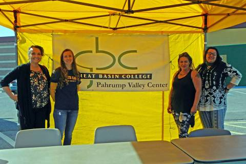Robin Hebrock/Pahrump Valley Times Students and staff from the Great Basin College Social Work ...