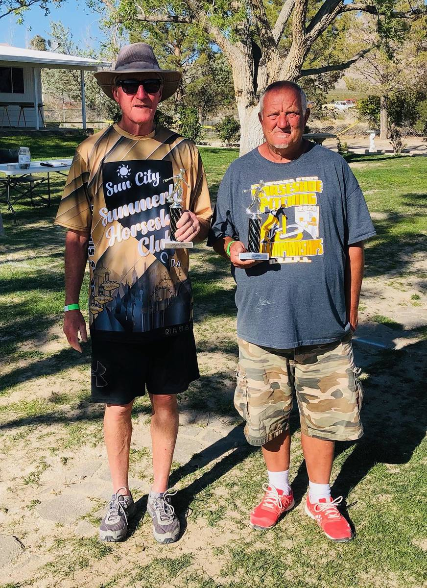 Lathan Dilger/Special to the Pahrump Valley Times Dan Dunn, left, and Mike Dedeic with their tr ...