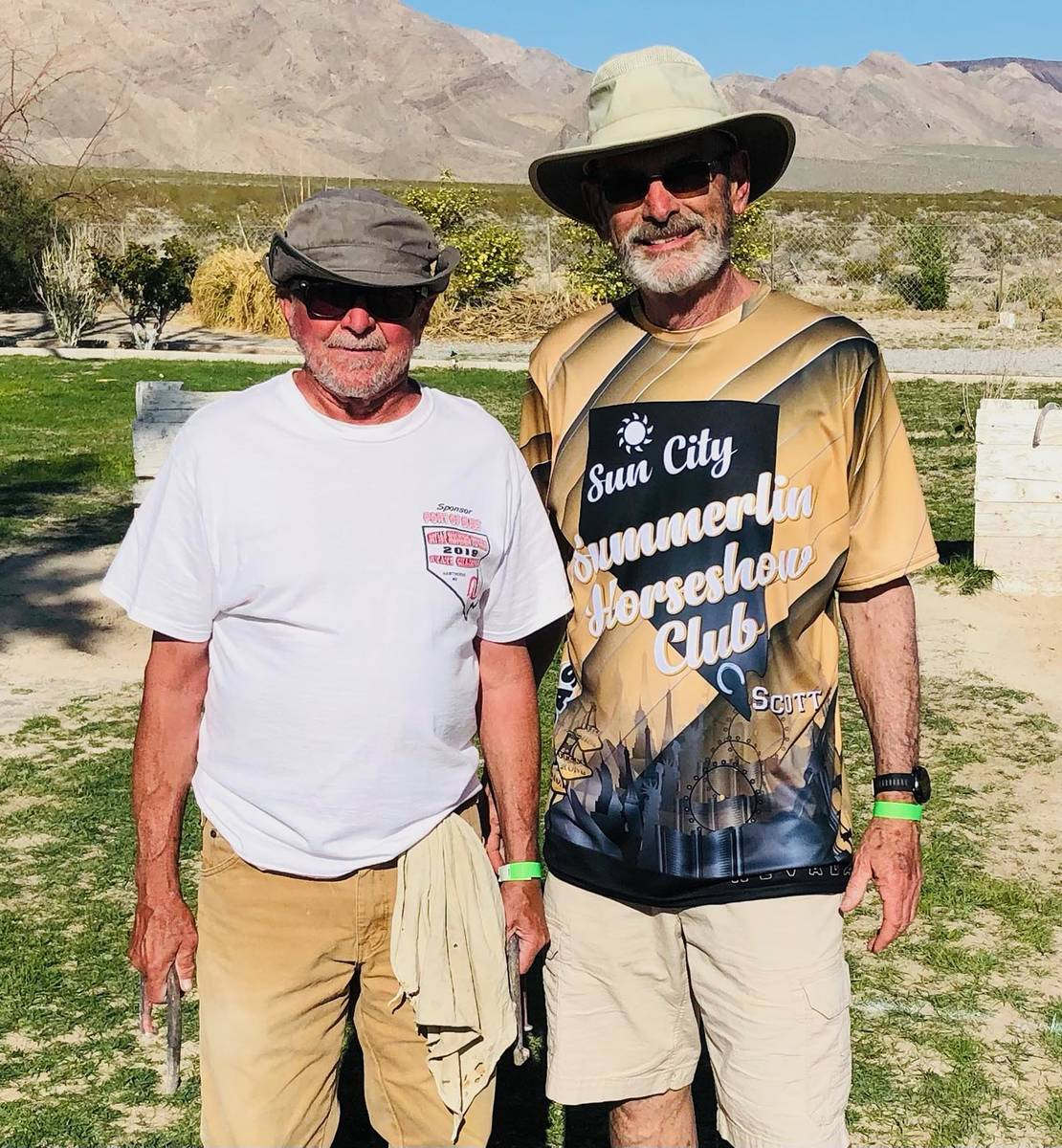 Lathan Dilger/Special to the Pahrump Valley Times Chuck Smith, left, and Scott Hardy finished s ...