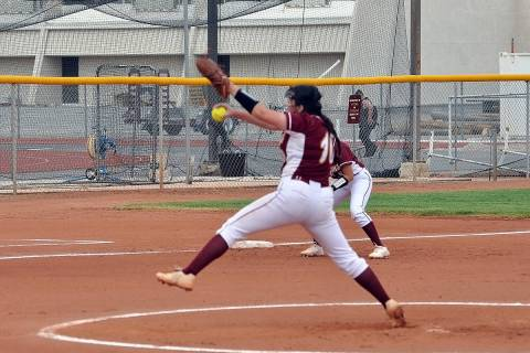 Horace Langford Jr./Pahrump Valley Times Pahrump Valley's Ava Charles winds up against SLAM Nev ...