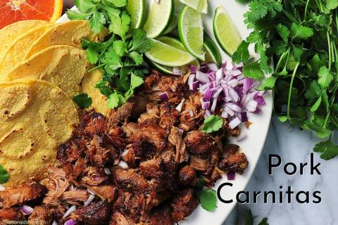 "Patti Diamond/Special to the Pahrump Valley Times Carnitas means ""little meats"" in Spanish ..."
