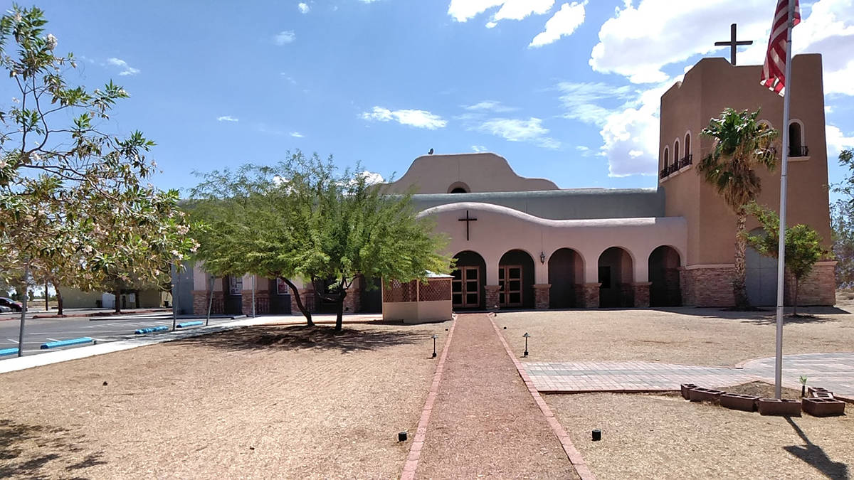 Selwyn Harris/Pahrump Valley Times Our Lady of the Valley Catholic Church also received funding ...