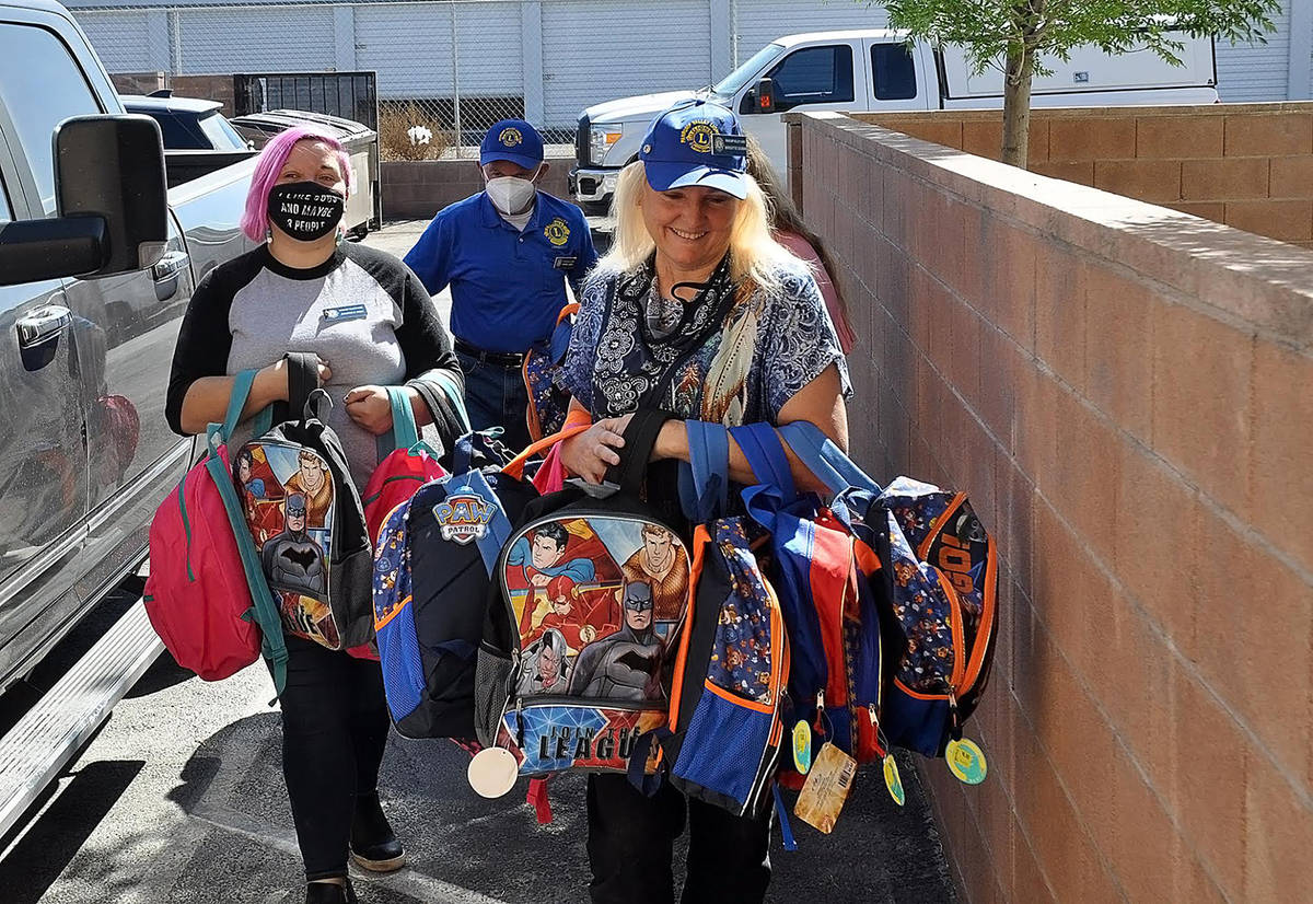 Horace Langford Jr./Pahrump Valley Times Pahrump Valley Lions Club President Brigitte Dubin and ...