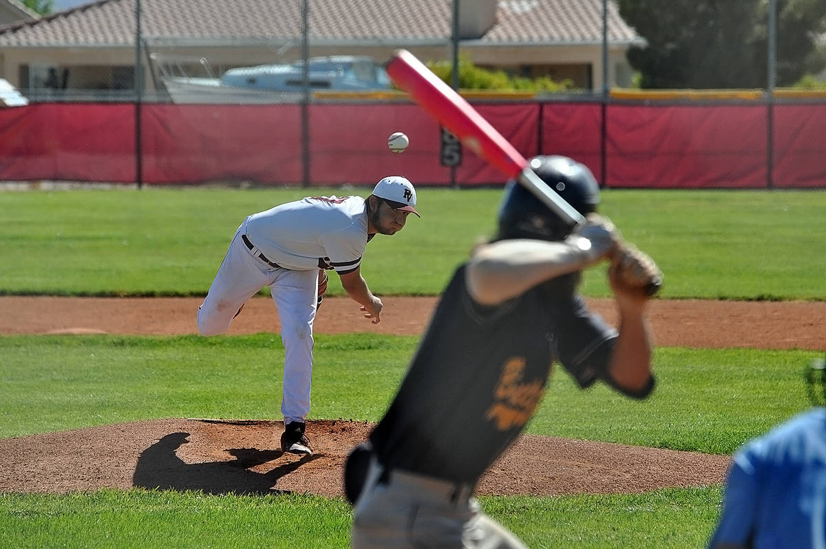 Horace Langford Jr./Pahrump Valley Times Pahrump Valley senior Jake Riding tossed a 4-hitter wi ...