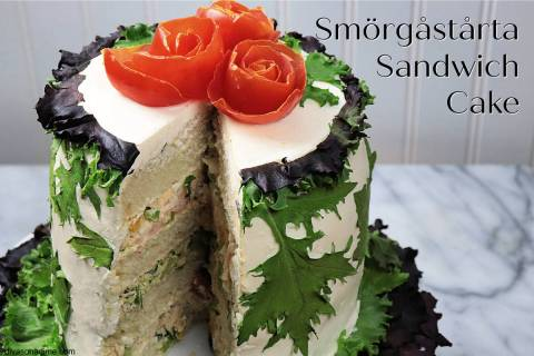 Patti Diamond/Special to the Pahrump Valley Times The savory sandwich cake is made by layering ...