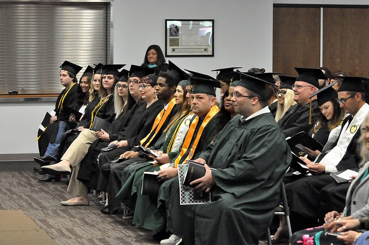 Horace Langford Jr./Pahrump Valley Times Great Basin College graduation in 2019 in Pahrump.