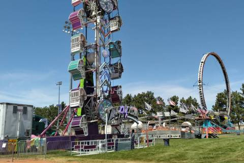 Selwyn Harris/Pahrump Valley Times The Zipper and the Ring of Fire, courtesy of Paradise Amusem ...