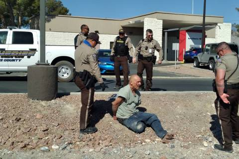 Selwyn Harris/Pahrump Valley Times Nye County Sheriff's Office deputies responded to an inciden ...