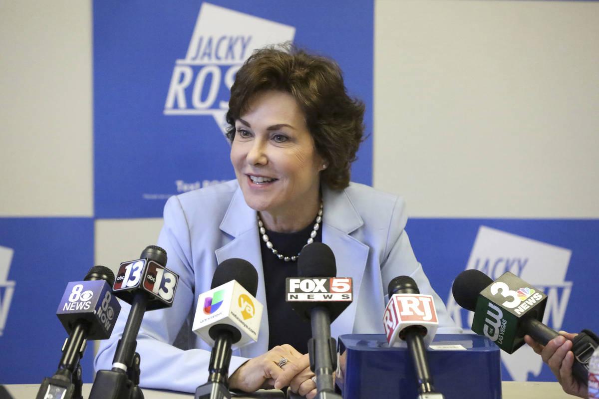 Michael Quine/Las Vegas Review-Journal U.S. Sen. Jacky Rosen, D-Nev., stated her opposition on ...