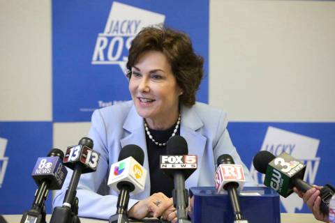 Michael Quine/Las Vegas Review-Journal U.S. Sen. Jacky Rosen, D-Nev., stated her opposition on ...