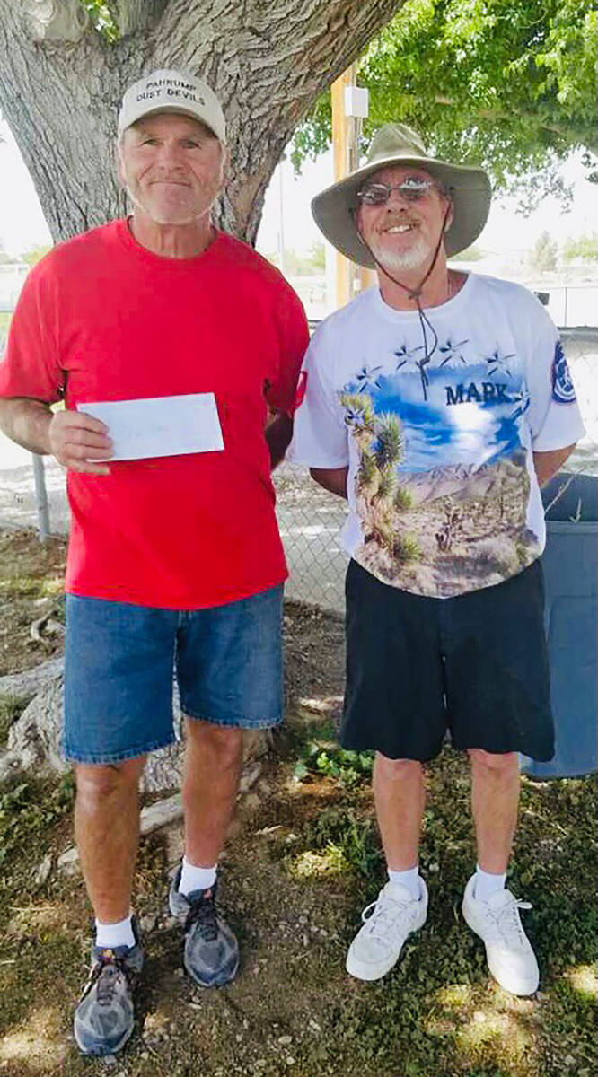 Lathan Dilger/Special to the Pahrump Valley Times Mike Nicosia, left, and Mark Kaczmarek finish ...
