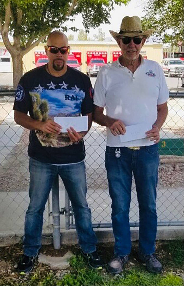Lathan Dilger/Special to the Pahrump Valley Times Rai Adams and Bob Miller won the tournament c ...