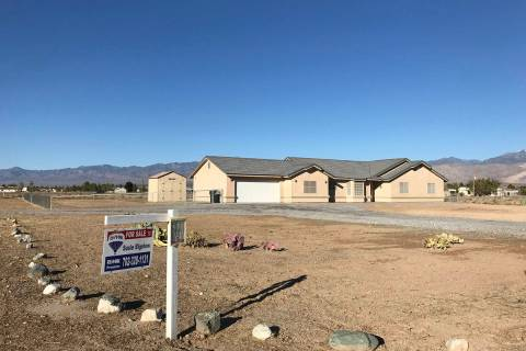Pahrump Valley Times--file This 2017 file photo shows a home for sale in Pahrump. The median h ...