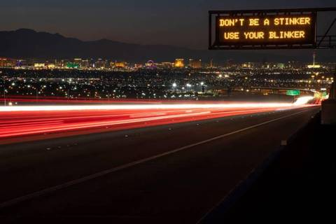 Special to the Pahrump Valley Times NDOT is asking Nevadans to vote on which safety messages th ...