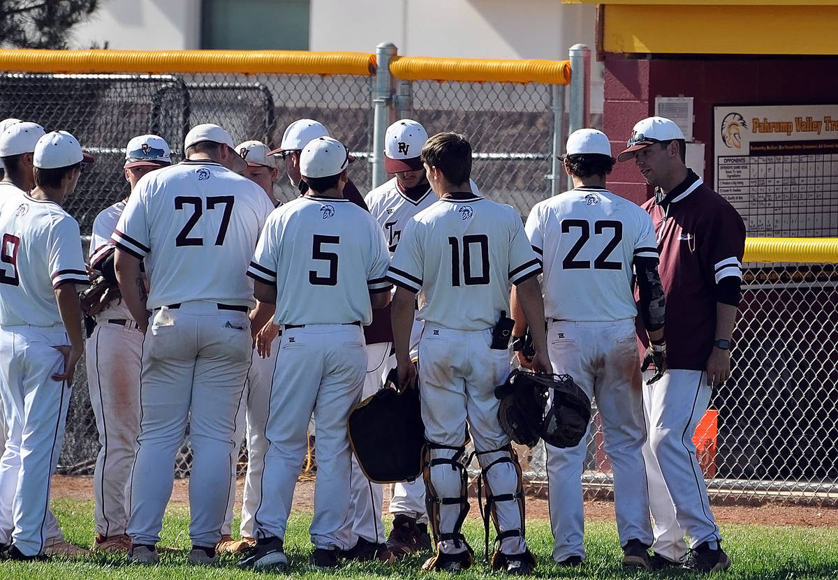 Horace Langford Jr./Pahrump Valley Times The Pahrump Valley High School baseball team has won f ...