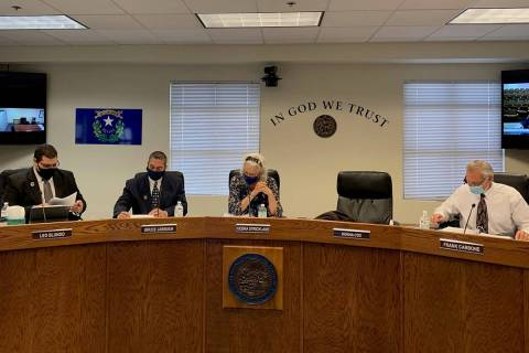 Special to the Pahrump Valley Times The Nye County Commission is keeping its teleconference sy ...