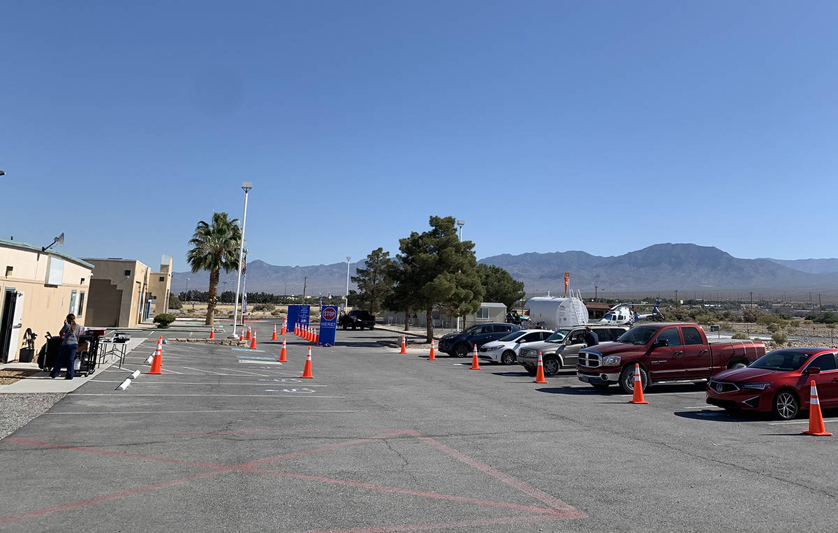 Special to the Pahrump Valley Times This photo shows the scene at 1503 E. Calvada Boulevard dur ...