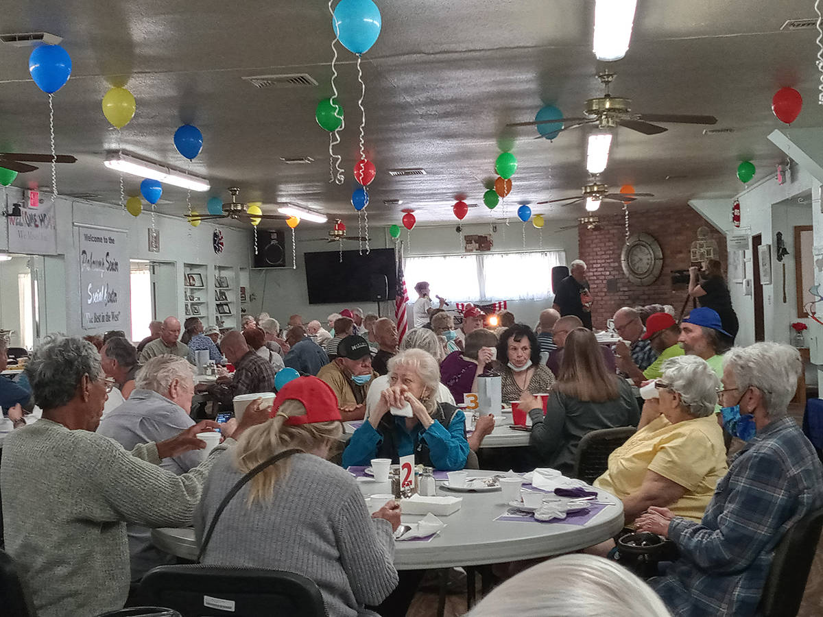 Special to the Pahrump Valley Times The Pahrump Senior Center dining room was filled to near ca ...