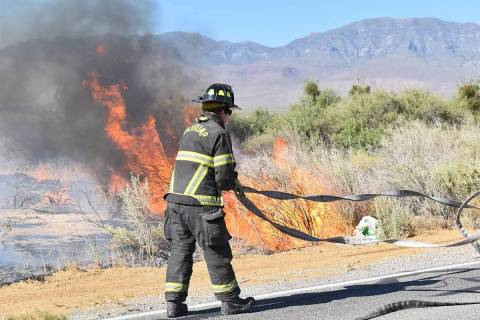 Special to the Pahrump Valley Times Recent brush fires have kept Pahrump Valley Fire and Rescue ...