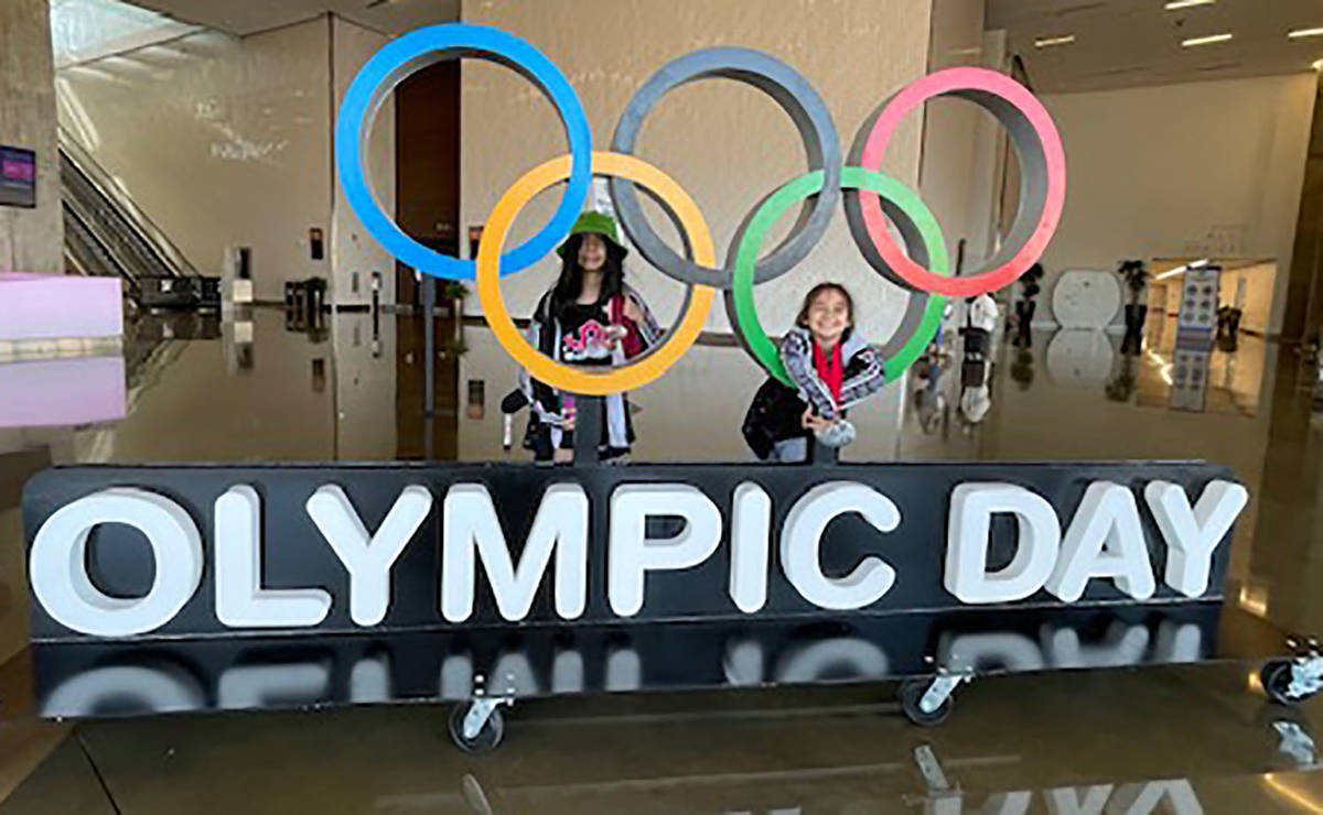 Special to the Pahrump Valley Times Mika, left, and Suri Yoffee at the USA Wrestling Women's Na ...