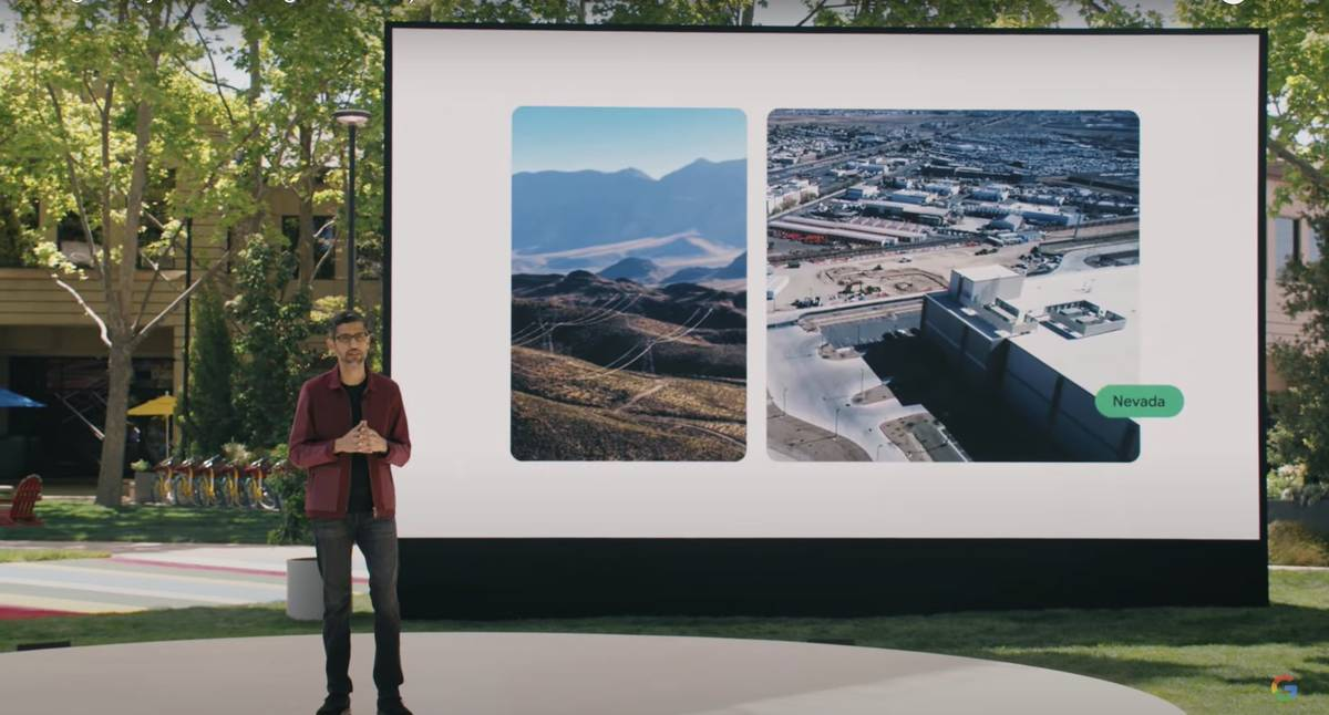 Google CEO Sundar Pichai announced May 18, 2021 that the company will develop a geothermal powe ...