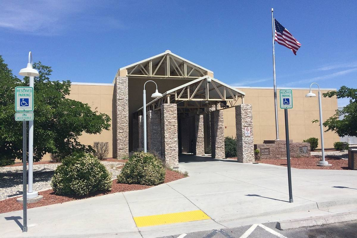 Robin Hebrock/Pahrump Valley Times The Nye County Courthouse, renamed for the late bailiff Gera ...