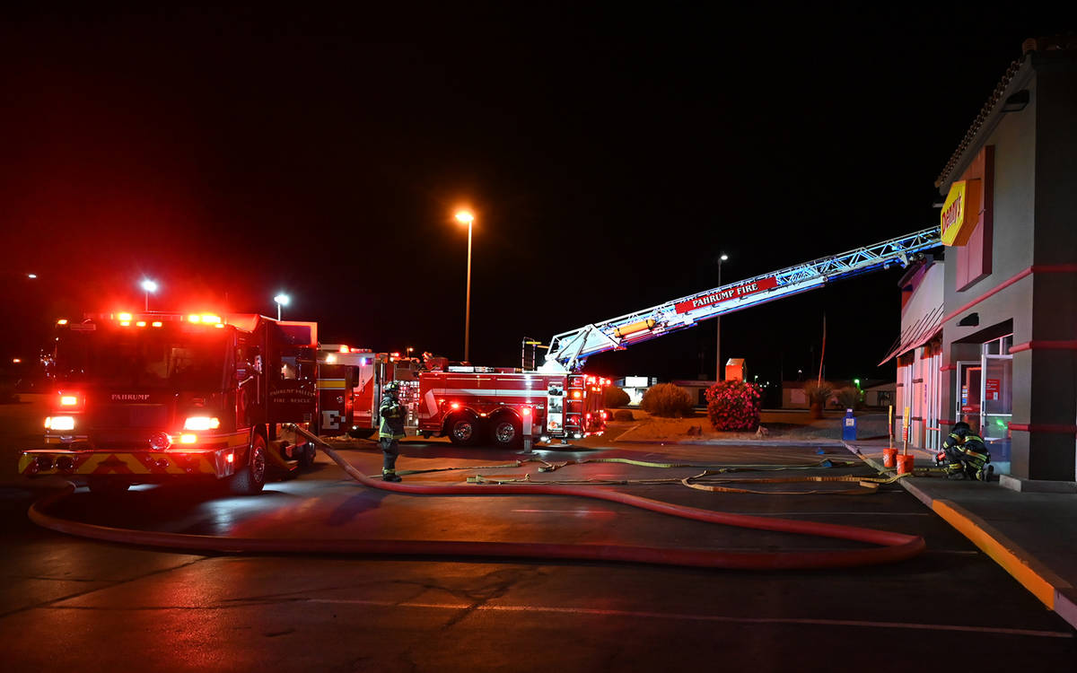 Special to the Pahrump Valley Times Pahrump Valley Fire and Rescue Services Tower Ladder appara ...