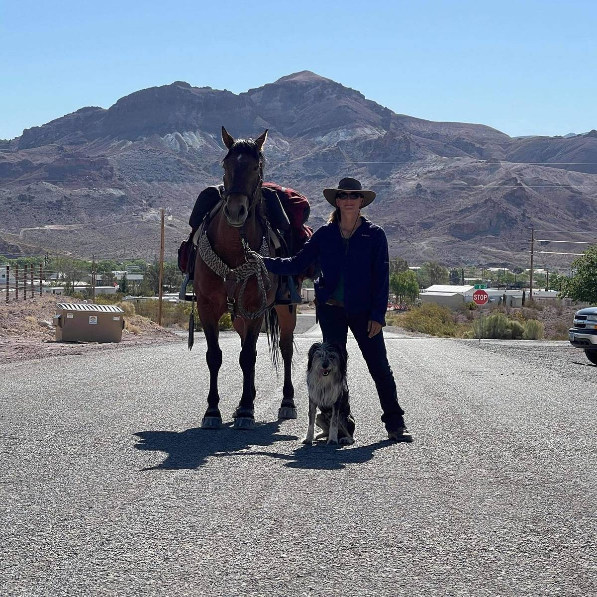 Nevada Discovery Ride Szesciorka, her horse Sage and her dog Juniper are making several stops i ...