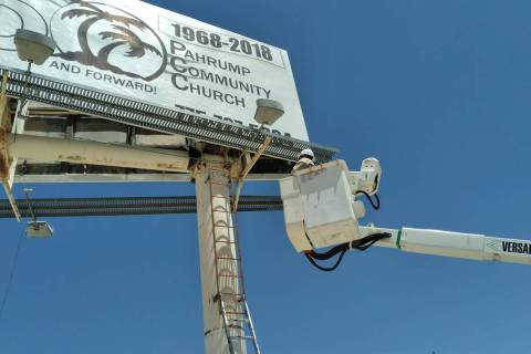 Selwyn Harris/Pahrump Valley Times It took all of about five minutes for a Valley Electric Asso ...