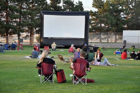 Horace Langford Jr./Pahrump Valley Times This file photo shows the scene at a 2020 Movies in th ...