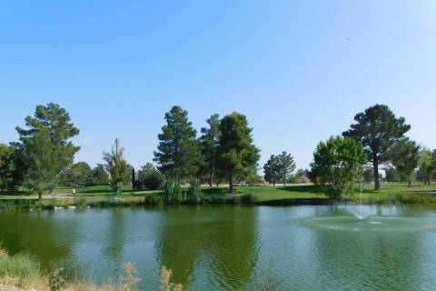 Robin Hebrock/Pahrump Valley Times A view across the small lake for which Lakeview Executive Go ...