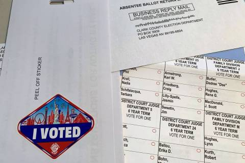 Mail-in ballot in 2020. (Las Vegas Review-Journal)