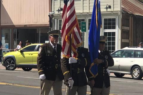 Tom Rysinski/Times-Bonanza & Goldfield News A Nye County Sheriff's Office honor guard was among ...