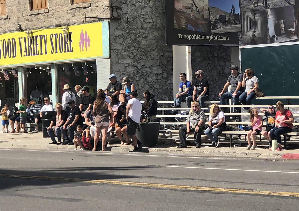 Tom Rysinski/Times-Bonanza & Goldfield News Spectators gather along Main Street before the star ...
