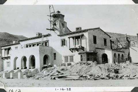 Mat Roy Thompson/Special to the Pahrump Valley Times Pictured is Scotty's Castle looking from ...