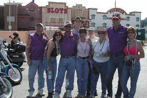 Special to the Pahrump Valley Times Pictured third from left, Larry McKay is joined by fellow m ...