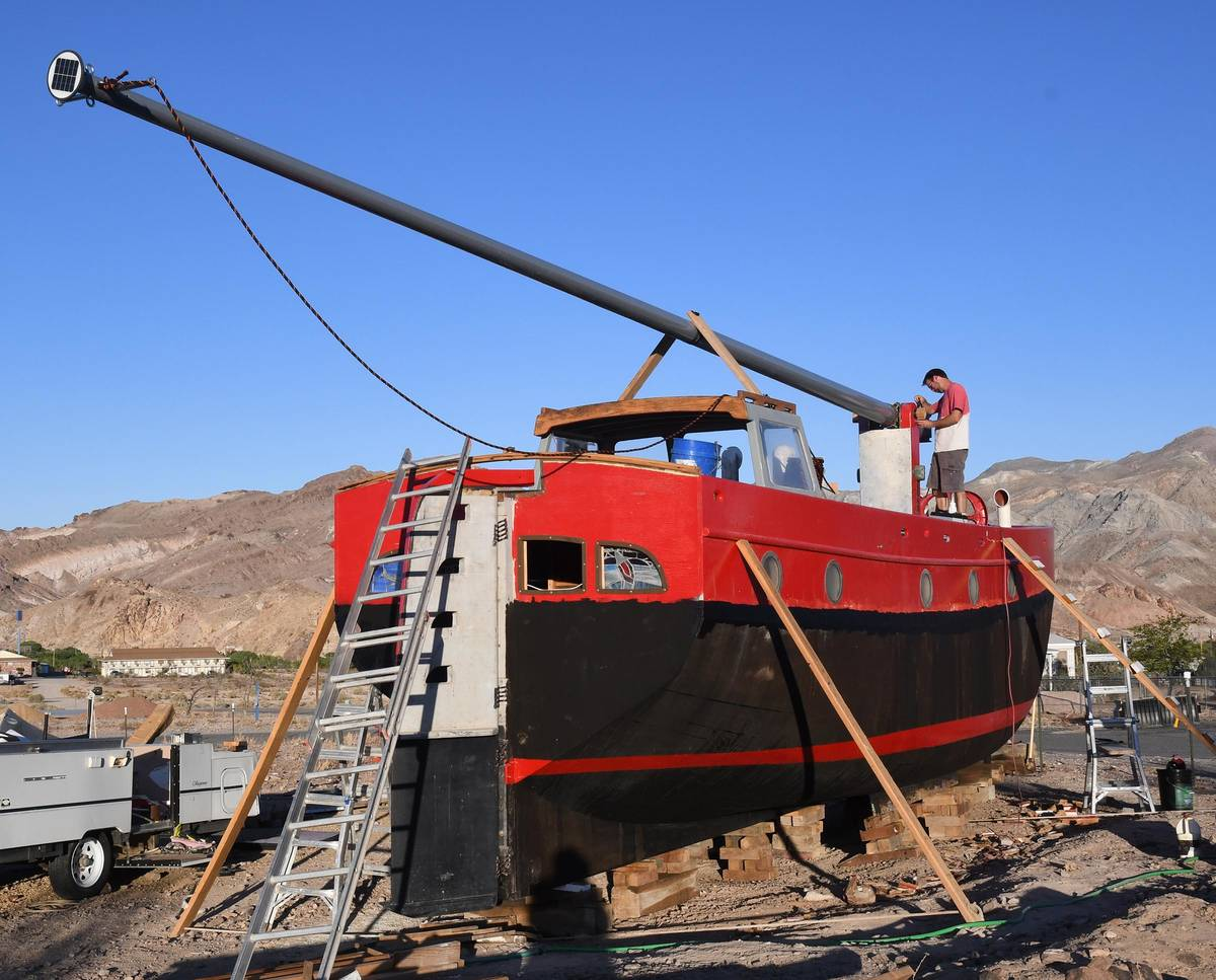 Richard Stephens/Special to the Pahrump Valley Times The boat's rigging is a modern adaptatio ...