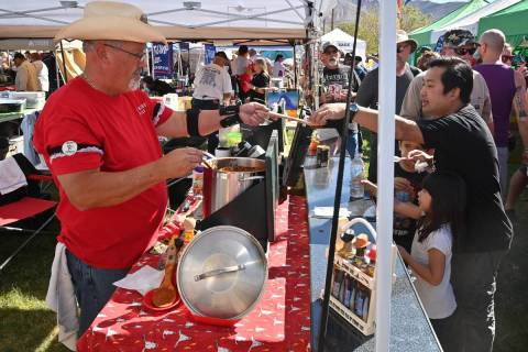 Richard Stephens/Special to the Pahrump Valley Times The chili cook-off is a popular part of Be ...