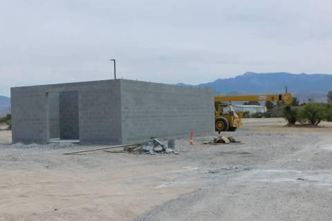 Robin Hebrock/Pahrump Valley Times This photo, taken Monday, June 7, shows the concrete buildin ...