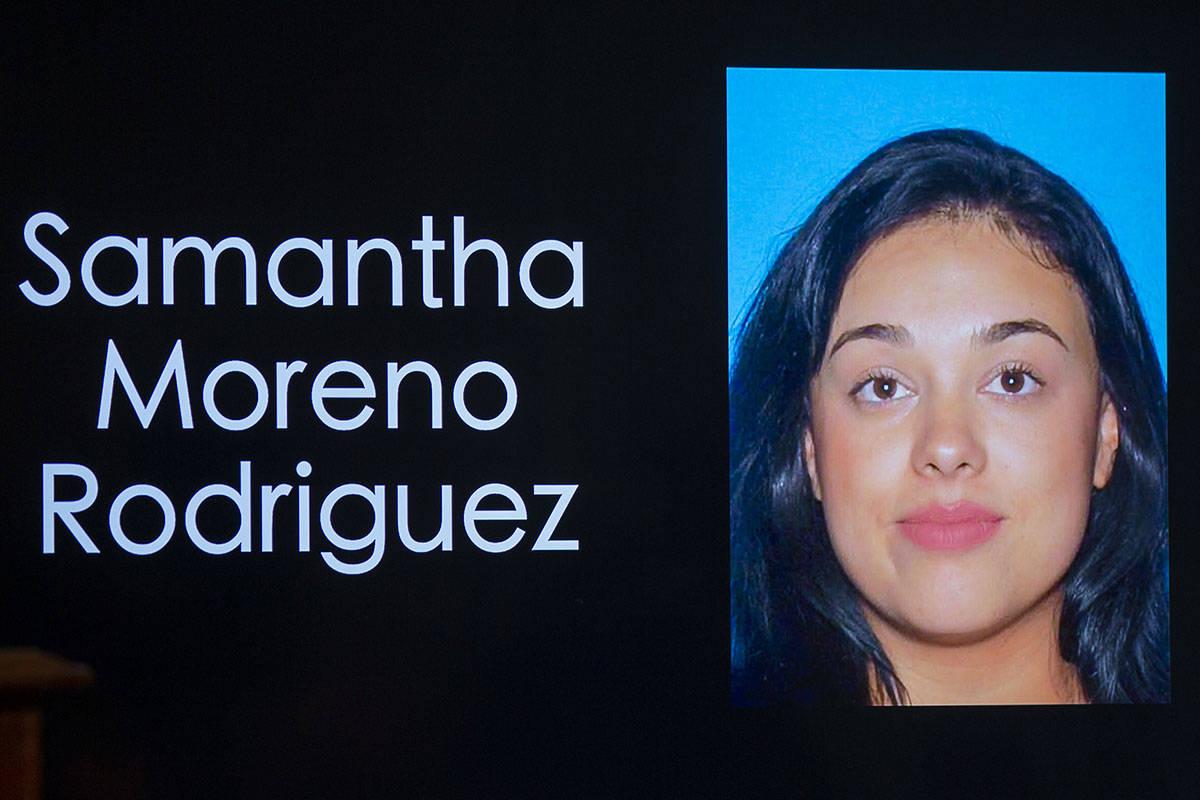 Police headshot of Samantha Moreno Rodriguez (L.E. Baskow/Las Vegas Review-Journal) @Left_Eye_I ...