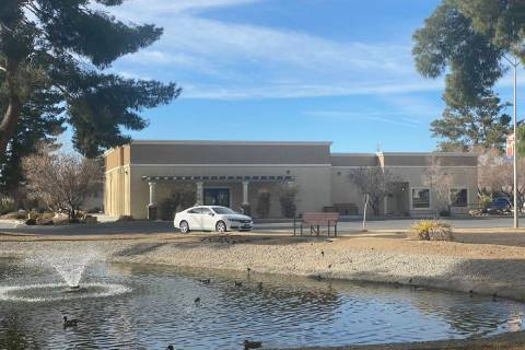 Jeffrey Meehan/Pahrump Valley Times The Nye County Commissioners' Chambers is one of the build ...