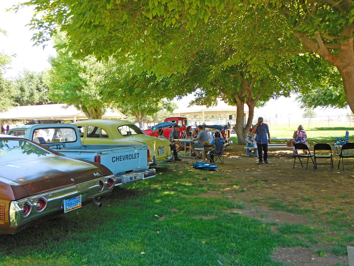 Robin Hebrock/Pahrump Valley Times Some classic cars were on display at the Veterans Appreciati ...