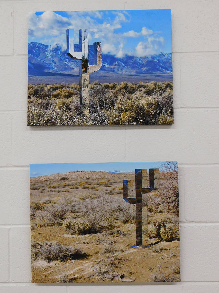 Robin Hebrock/Pahrump Valley Times Art work at the Pahrump Music Festival included photos of th ...