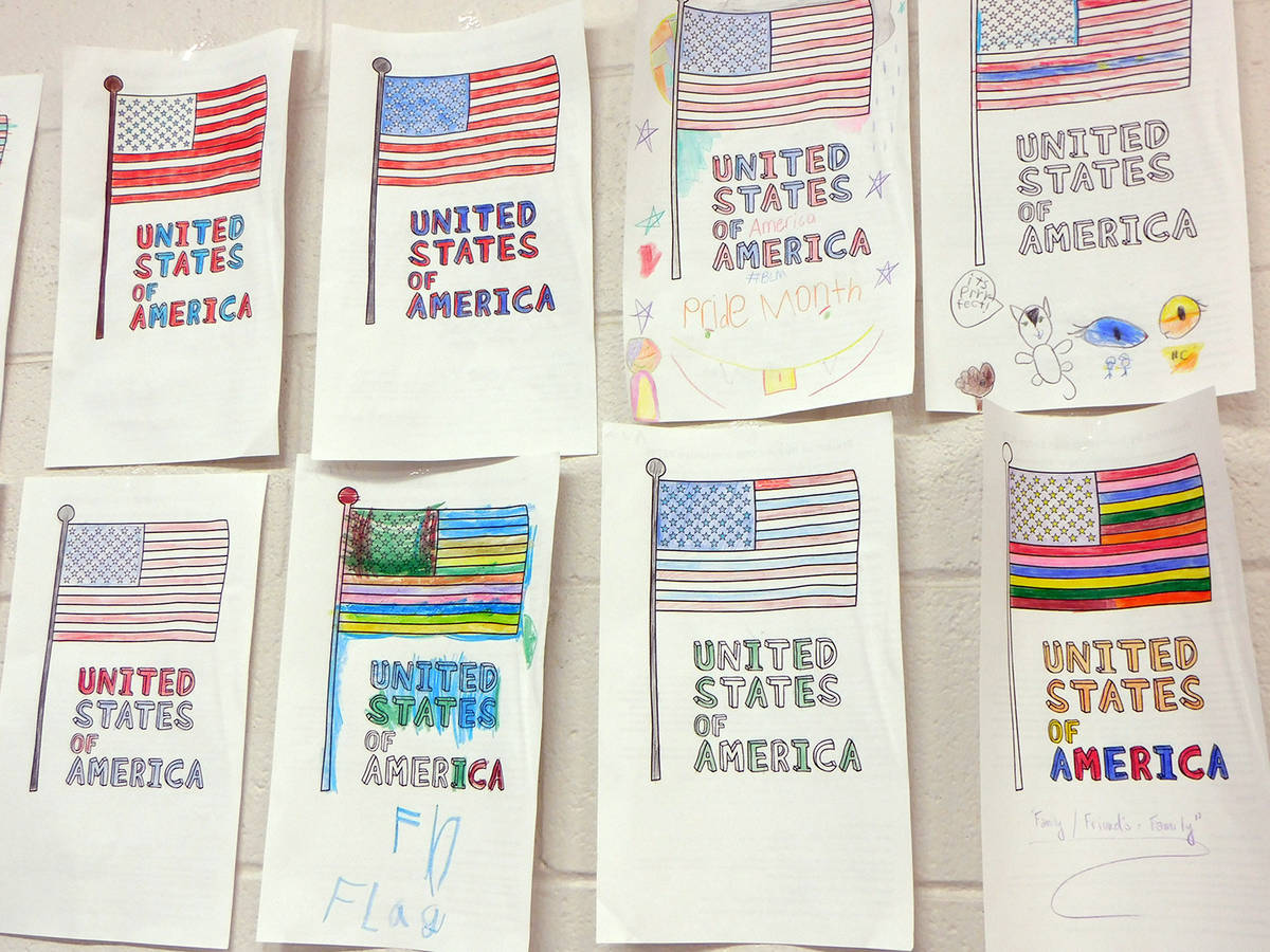 Robin Hebrock/Pahrump Valley Times A shot of some of the artwork submitted by local youngsters ...