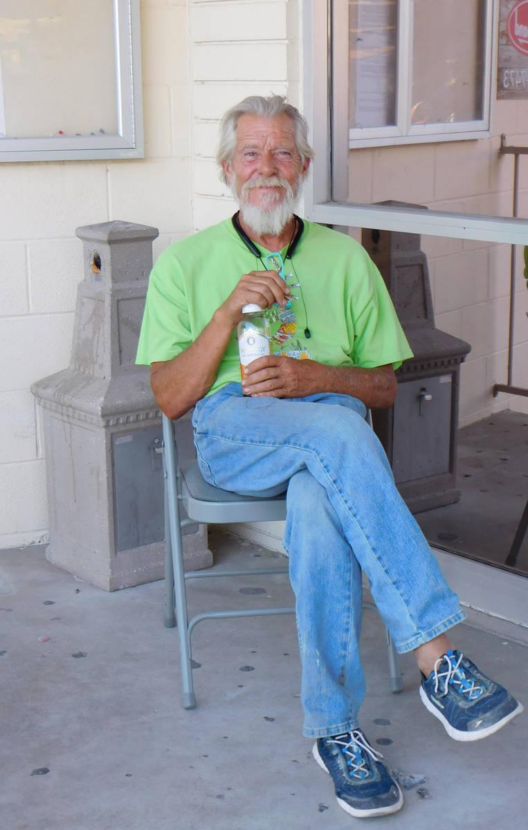 Robin Hebrock/Pahrump Valley Times Steve Farmer sits outside of the Bob Ruud Community Center, ...