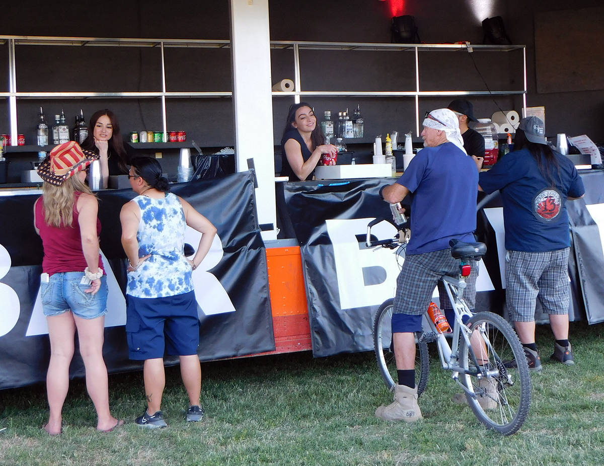 Robin Hebrock/Pahrump Valley Times A highly popular vendor at the Pahrump Music Festival was a ...