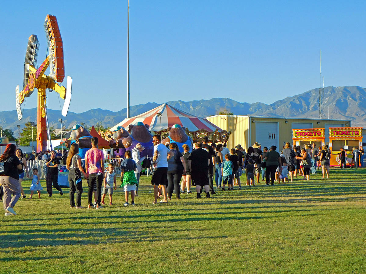 Robin Hebrock/Pahrump Valley Times The carnival at the Pahrump Music Festival was quite busy on ...