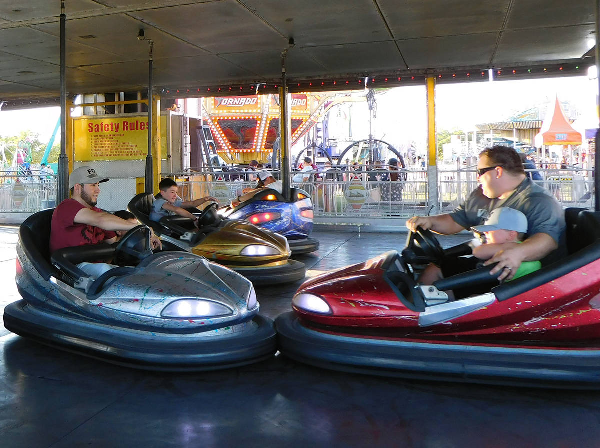 Robin Hebrock/Pahrump Valley Times Bumper cars were just one of the many fun rides that Pahrump ...