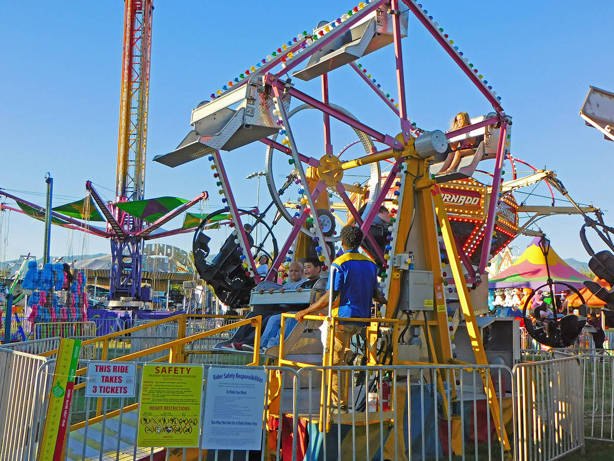 Robin Hebrock/Pahrump Valley Times The Pahrump Music Festival carnival was a big hit, with kidd ...